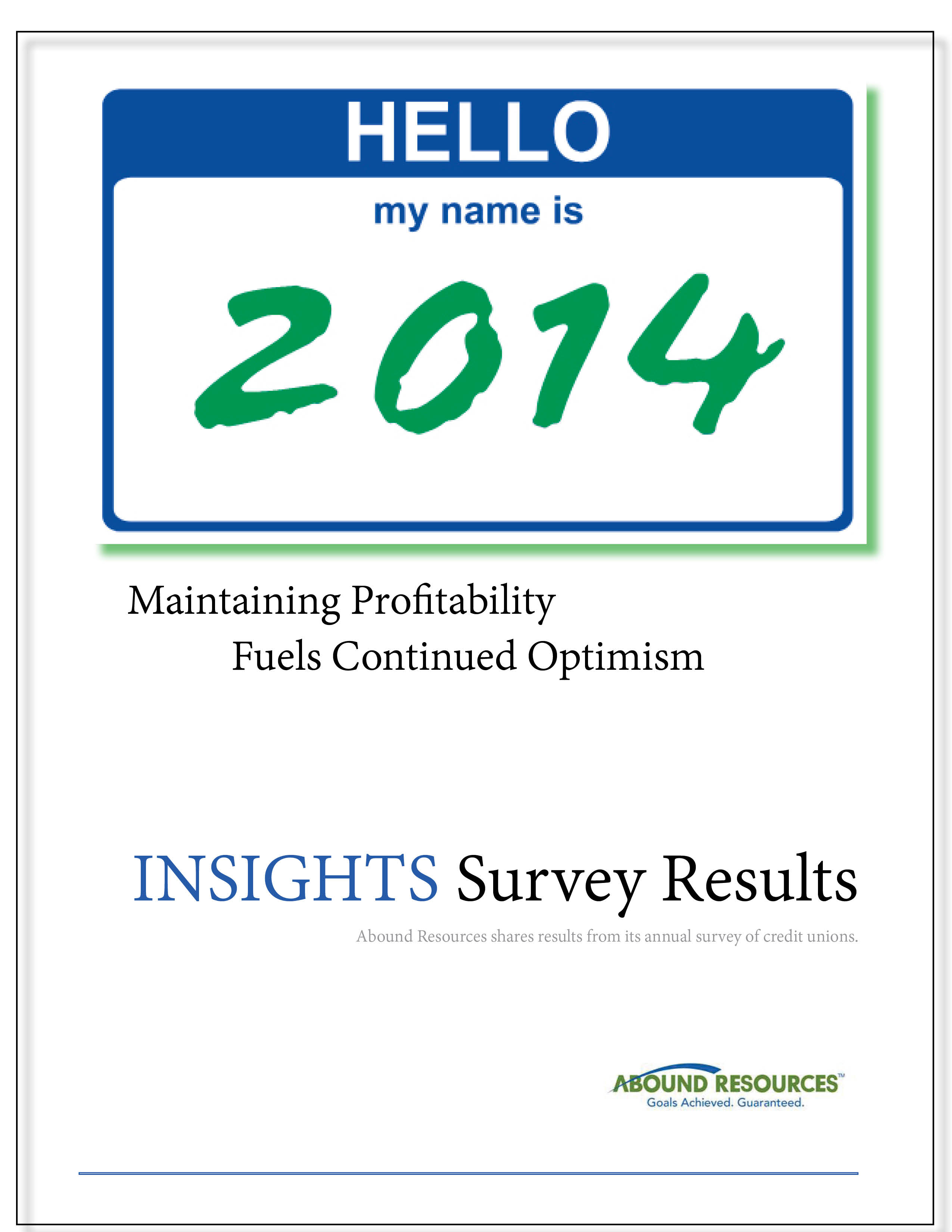 Annual Credit Union Survey Results