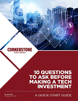 10 Questions to Ask Before Making a Technology Investment Cover
