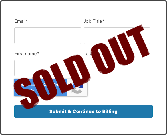 Sold Out Form